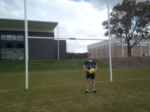 Brumbies flyer Robbie Coleman at the new Brumbies HQ at the University of Canberra. (PIC: Caden Helmers)